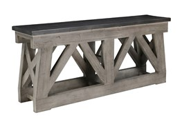 Reclaimed 72 Inch Grey Console Sofa Table