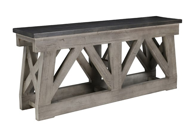 Reclaimed 72 Inch Grey Console Sofa Table | Living Spaces