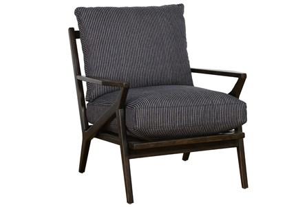 Menswear Blue Striped Accent Chair