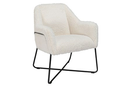 Sherpa White Accent Chair