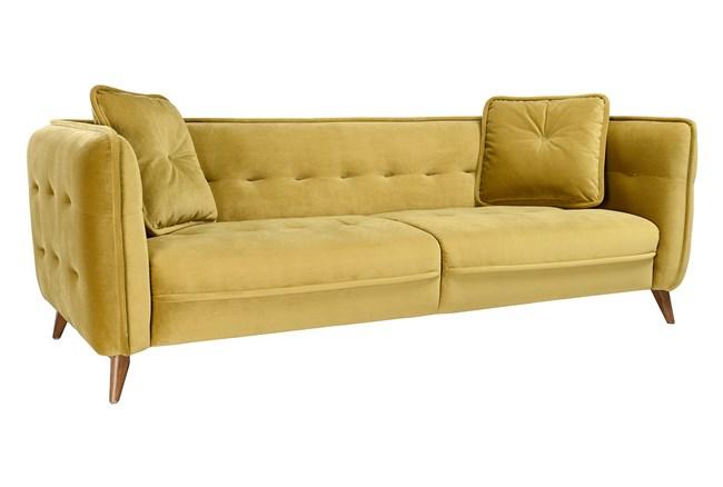 Mustard Mid Century Sofa - 360