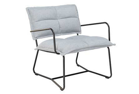 Blue Grey Metal Accent Chair