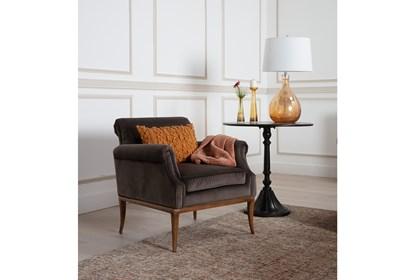 Admirable Grey Velvet Accent Chair Theyellowbook Wood Chair Design Ideas Theyellowbookinfo
