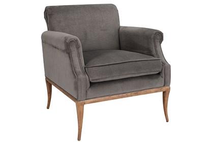 Phenomenal Grey Velvet Accent Chair Machost Co Dining Chair Design Ideas Machostcouk