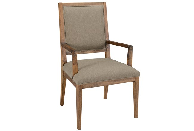 Beige Dining Arm Chair - 360