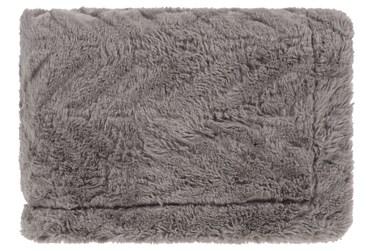 Accent Throw-Grey Fur Chevron