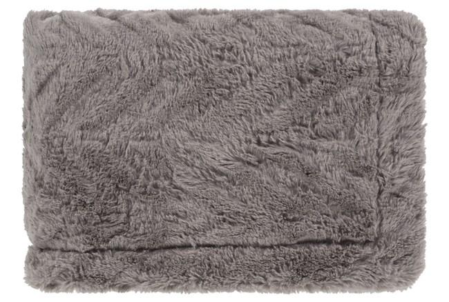 Accent Throw-Grey Fur Chevron - 360