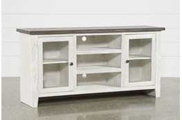 Dixon White 65 Inch Tv Stand With Glass Doors