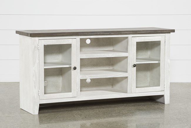 Dixon White 65 Inch Tv Stand Living Spaces