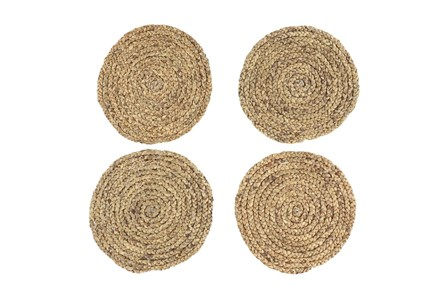 Set Of 4 Assorted Light Woven Round Placemat - Main