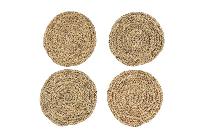 Set Of 4 Assorted Light Woven Round Placemat  - 360