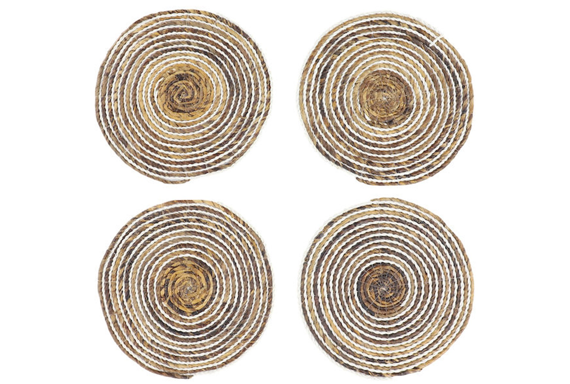 Set Of 4 White Wash Round Placemat Qty 1 Has Been Successfully Added To Your Cart