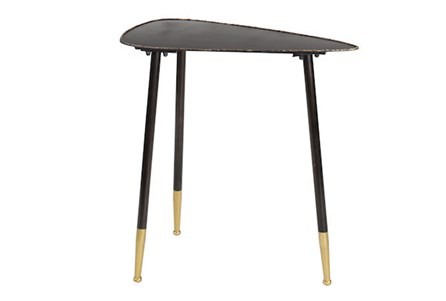 24 Inch Metal Triangle Side Table