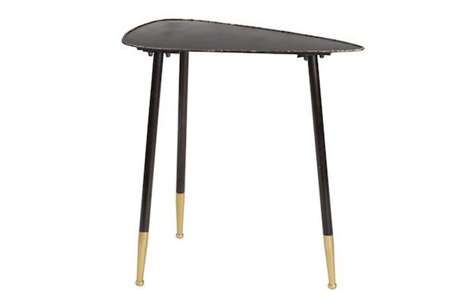 24 Inch Metal Triangle Side Table - 360