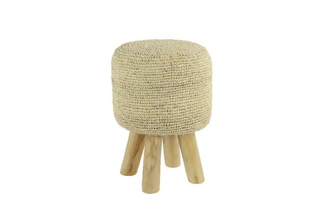Crochet Ivory Stool - 360