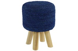 Crochet Navy Stool