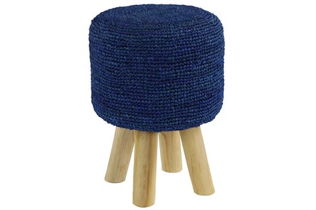 Crochet Navy Stool - Main
