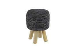 Crochet Grey Stool