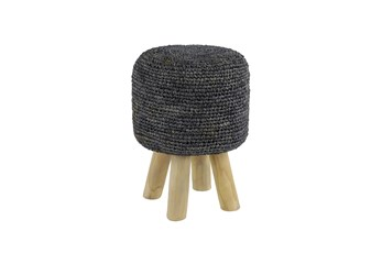 Crochet Grey Stool