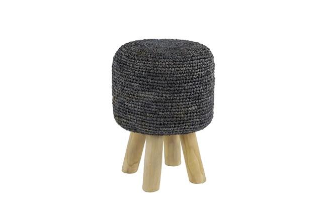 Crochet Grey Stool - 360