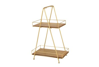 2 Tiered Metal Tray