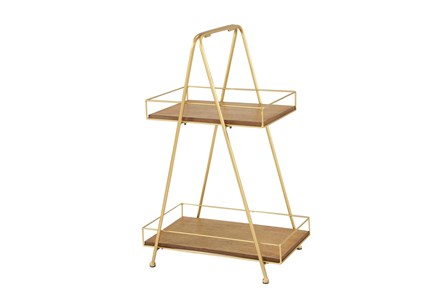 2 Tiered Metal Tray - Main