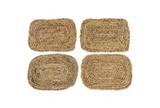Set Of 4 Assorted Woven Square Placemat