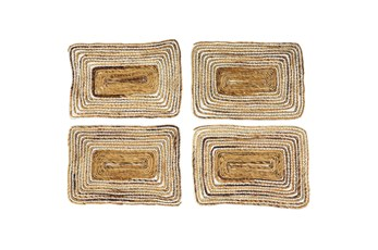 Set Of 4 White Wash Square Placemat