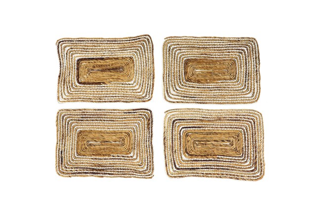Set Of 4 White Wash Square Placemat  - 360