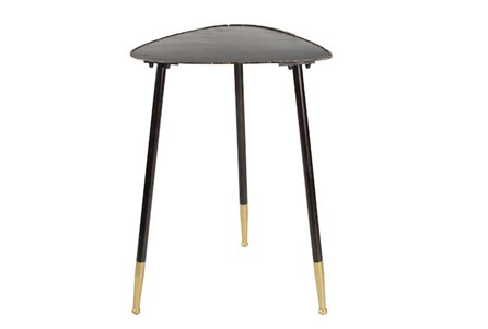 26 Inch Metal Triangle Side Table