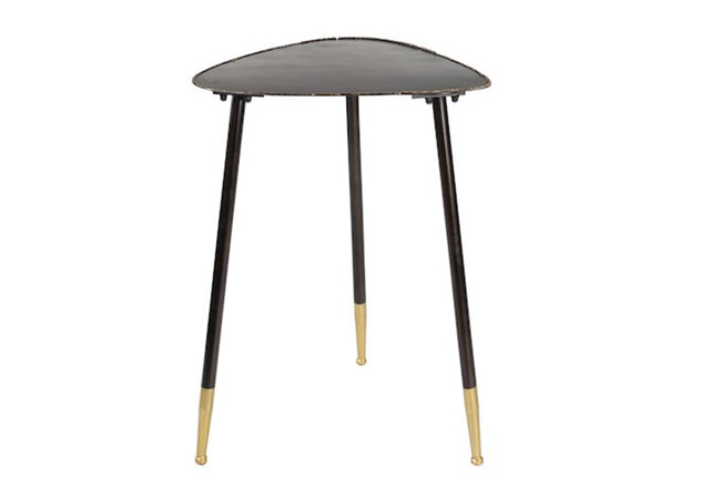 26 Inch Metal Triangle Side Table - 360
