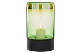 Green Tinted Glass Candleholder
