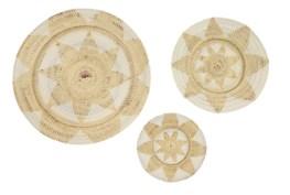Set Of 3 Light Wicker Wall Baskets