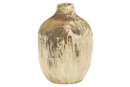 10 Inch Terracota Gold Vase