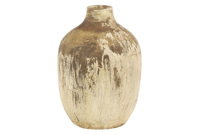 10 Inch Terracota Gold Vase - 360