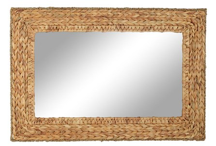 Wall Mirror-Square Water Hyacinth