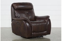 Shane Leather Power Recliner With Power Headrest