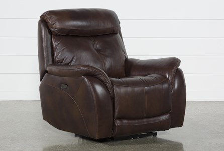 Shane Leather Power Recliner With Power Headrest - Main