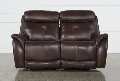 Brilliant Shane Leather Power Reclining Glider Loveseat W Power Headrest Gmtry Best Dining Table And Chair Ideas Images Gmtryco