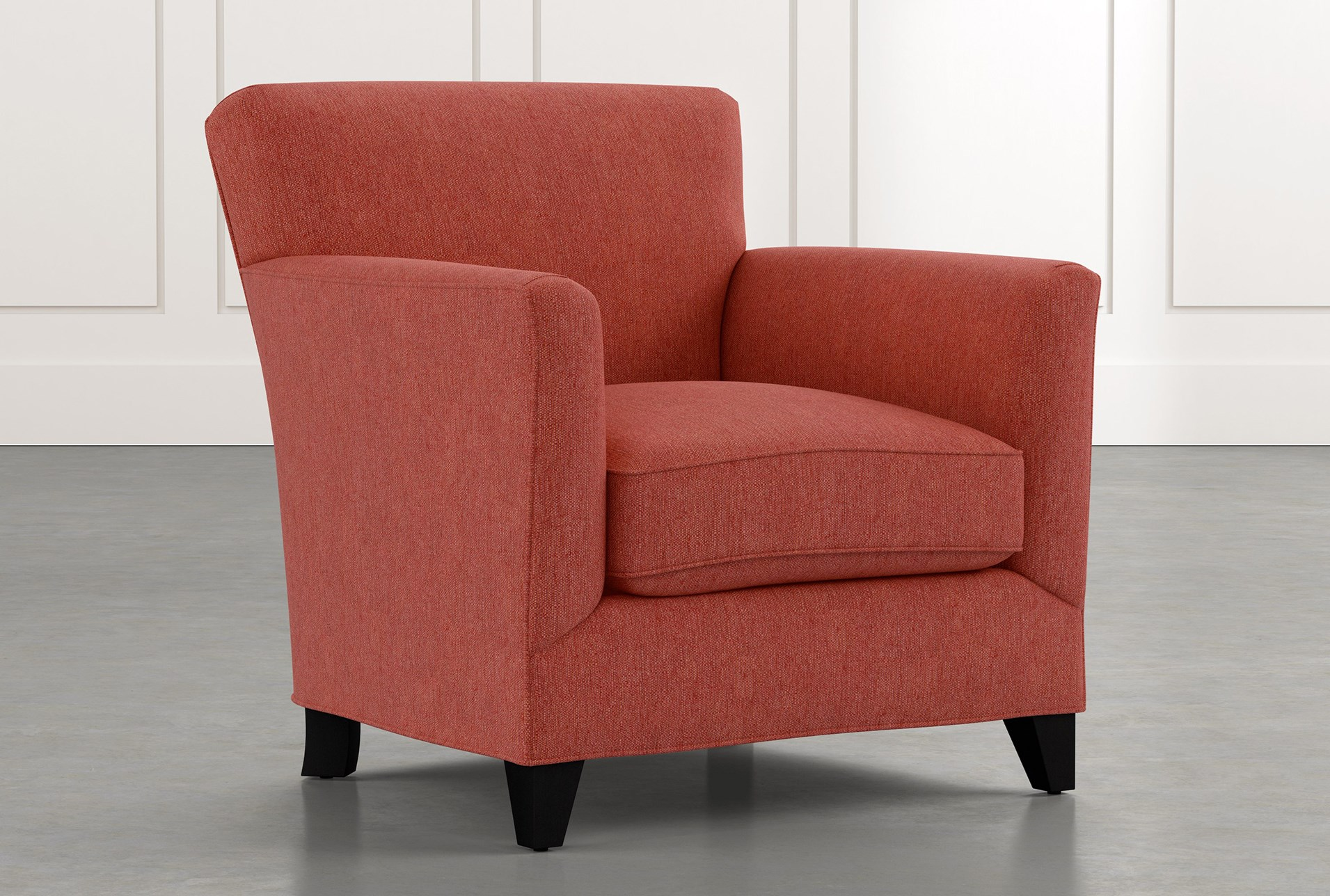 Dexter Ii Red Accent Chair Living Spaces
