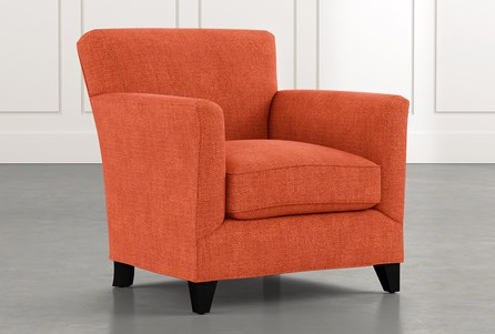 Dexter II Orange Accent Chair