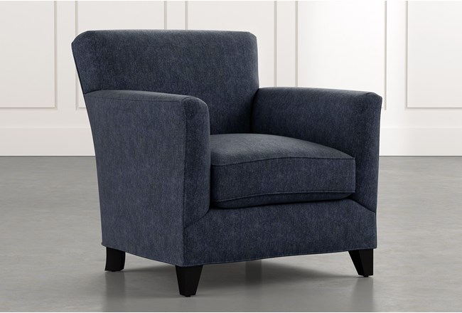 Dexter Ii Navy Blue Accent Chair Living Spaces