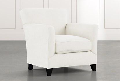 Dexter II White Accent Chair