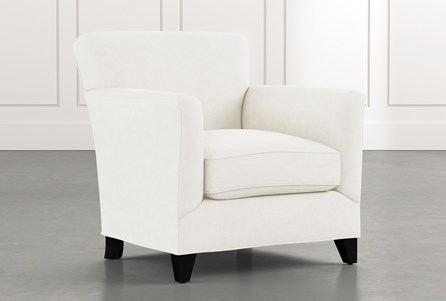 Dexter II White Accent Chair