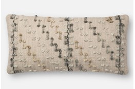 Accent Pillow-Magnolia Home Bowtie Grey/Multi 12X27 By Joanna Gaines
