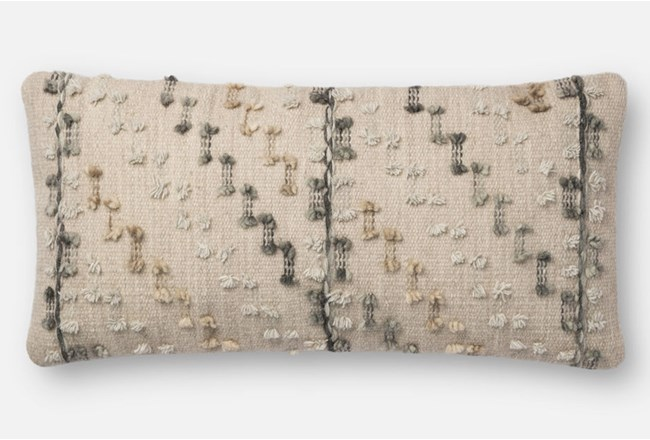 Accent Pillow-Magnolia Home Bowtie Grey/Multi 12X27 By Joanna Gaines - 360