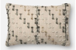 Accent Pillow-Magnolia Home Bowtie Grey/Multi 13X21 By Joanna Gaines