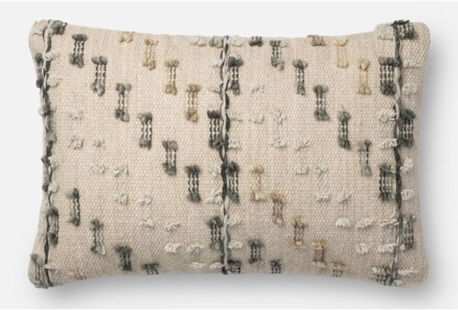 Accent Pillow-Magnolia Home Bowtie Grey/Multi 13X21 By Joanna Gaines - 360