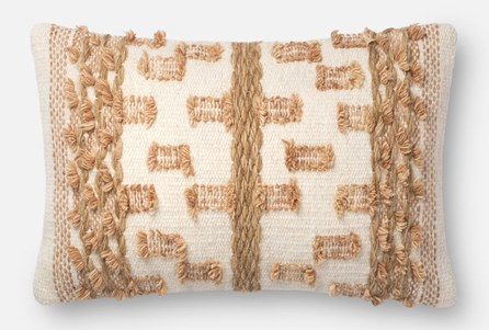 Accent Pillow-Magnolia Home Braided Bowtie Beige/Rust 13X21 By Joanna Gaines