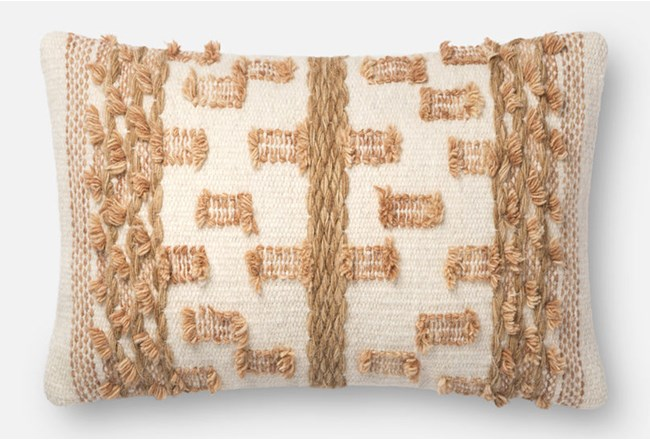 Accent Pillow-Magnolia Home Braided Bowtie Beige/Rust 13X21 By Joanna Gaines - 360